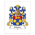 Maitre Family Crest Small Poster