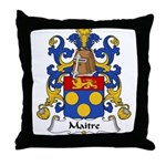 Maitre Family Crest Throw Pillow