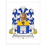 Maisonneuve Family Crest Small Poster