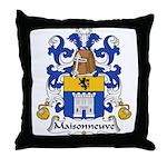 Maisonneuve Family Crest Throw Pillow