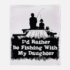 Fishing With  My Daughter Throw Blanket