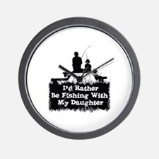 Fishing With  My Daughter Wall Clock