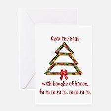 Unique Bacon christmas tree Greeting Card