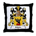 Maire Family Crest  Throw Pillow