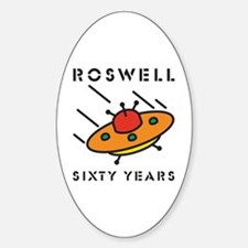 The 1947 Roswell UFO incident Oval Decal