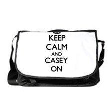 Keep Calm and Casey ON Messenger Bag