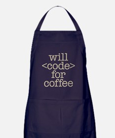 Code For Coffee Apron (dark)