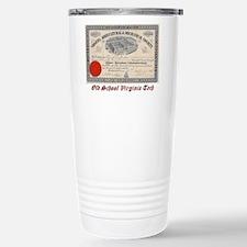 Old School Virginia Tec Travel Mug