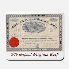 Old School Virginia Tech Mousepad