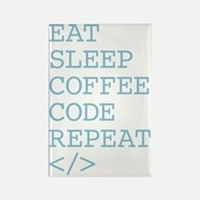Coffee Code Repeat Rectangle Magnet