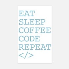 Coffee Code Repeat Decal