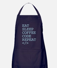 Coffee Code Repeat Apron (dark)