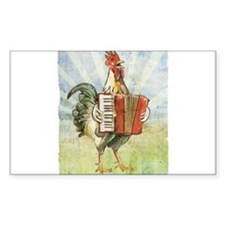 Accordian chick with back Decal