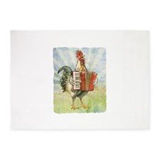 Accordian chick with back.png 5'x7'Area Rug