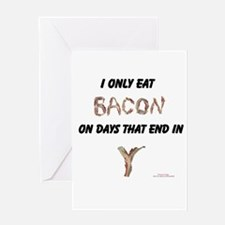 Cute Cured bacon Greeting Card