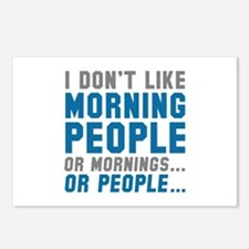 I Don't Like Morning People Postcards (Package of