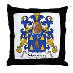 Magniere Family Crest Throw Pillow