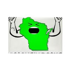 Cute Wisconsin green bay Rectangle Magnet (10 pack)