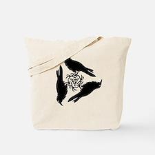 Raven Triskel Tote Bag