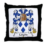 Loyers Family Crest Throw Pillow