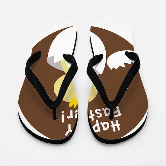 Happy Easter Chick Flip Flops
