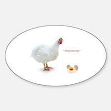 chicken Oval Decal