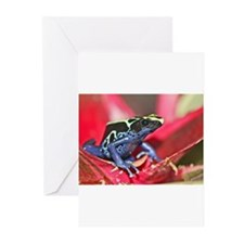 BluePoisonFrog_3421.jpg Greeting Cards