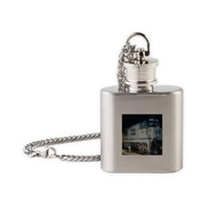 Train Engine Flask Necklace