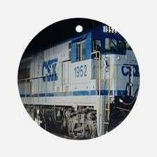Train Engine Ornament (Round)