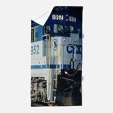 Train Engine Beach Towel