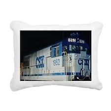 Train Engine Rectangular Canvas Pillow