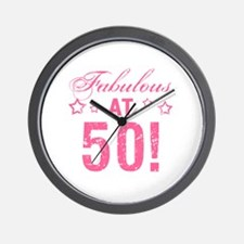 Fabulous 50th Birthday Wall Clock