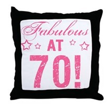 Fabulous 70th Birthday Throw Pillow