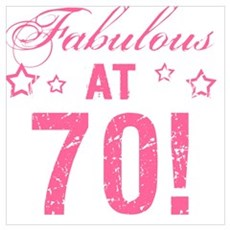 Fabulous 70th Birthday Poster