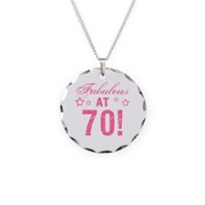 Fabulous 70th Birthday Necklace Circle Charm