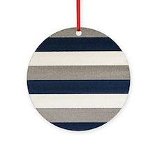 Fuzzy Stripes Ornament (Round)