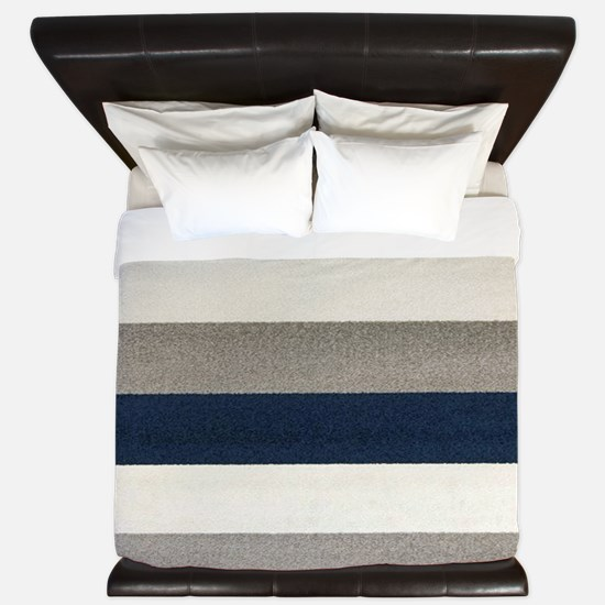 Fuzzy Stripes King Duvet