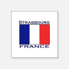 """Cute Paris souvenirs Square Sticker 3"""" x 3"""""""