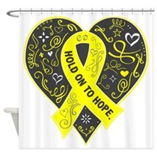 Endometriosis Hold on to Hope Shower Curtain
