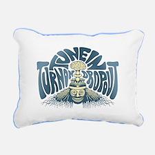 Tune In, Turn On, Drop O Rectangular Canvas Pillow