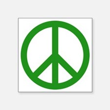 "green peace Square Sticker 3"" x 3"""