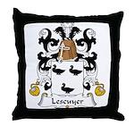 Lescuyer Family Crest Throw Pillow