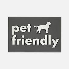 pet friendly art illustration Rectangle Magnet