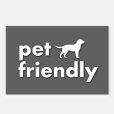 pet friendly art illustra Postcards (Package of 8)