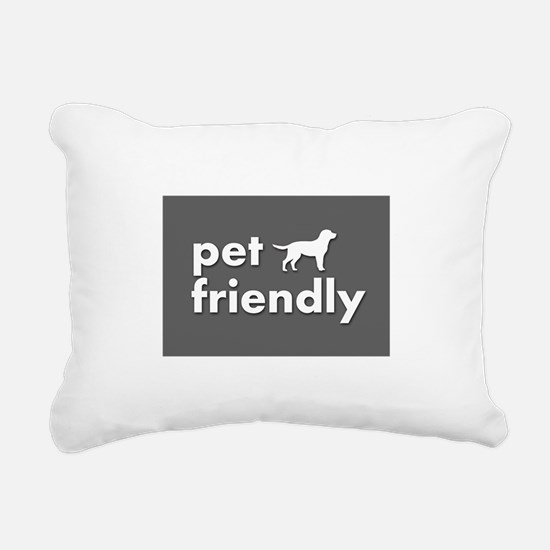 pet friendly art illustr Rectangular Canvas Pillow