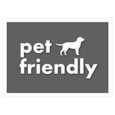 pet friendly art illustration Poster