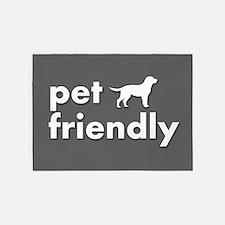 pet friendly art illustration 5'x7'Area Rug