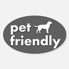 pet friendly art illustration Bumper Stickers