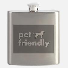 pet friendly art illustration Flask