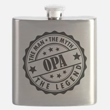 Opa - The Man The Myth The Legend Flask